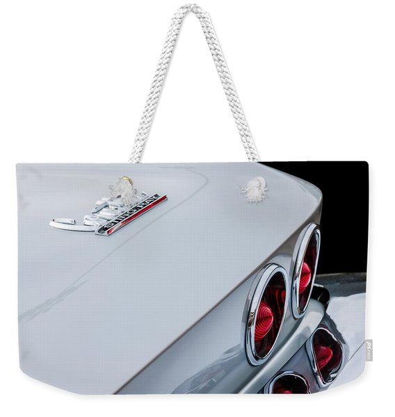 1967 Chevrolet Corvette Coupe Taillight Emblem Weekender Tote Bag