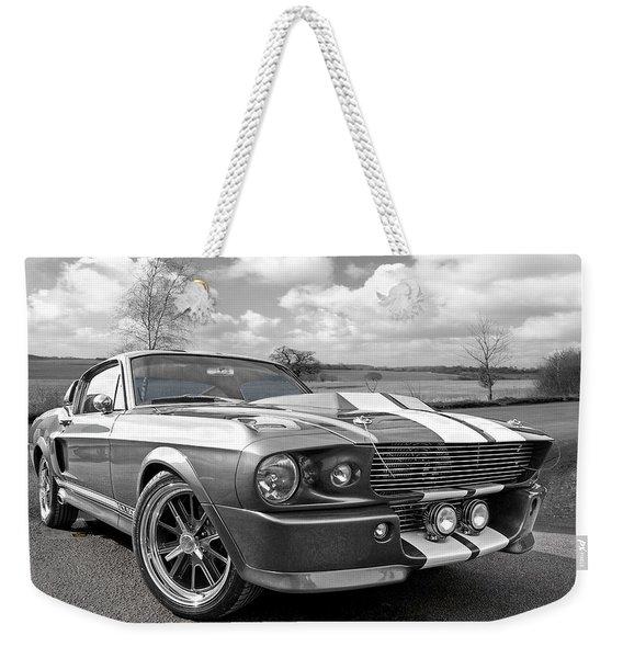 1967 Eleanor Mustang In Black And White Weekender Tote Bag