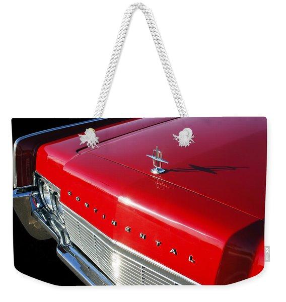 1967 Lincoln Continental Hood Ornament - Emblem -646c Weekender Tote Bag