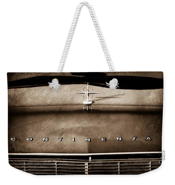 1967 Lincoln Continental Hood Ornament - Emblem Weekender Tote Bag