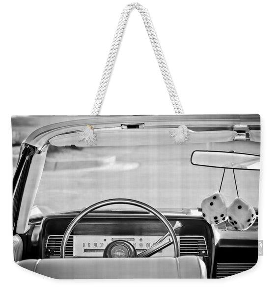 1967 Lincoln Continental Steering Wheel -014bw Weekender Tote Bag