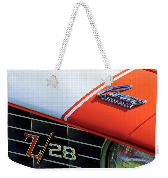 1969 Chevrolet Camaro Z-28 Emblem Weekender Tote Bag