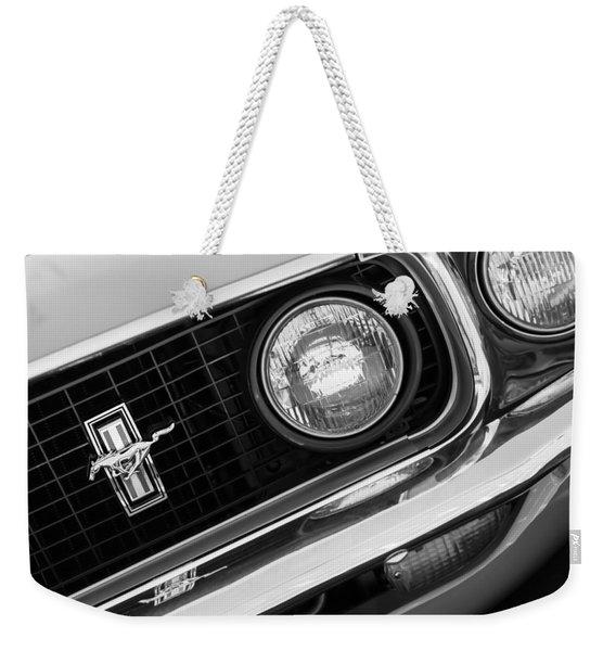 1969 Ford Mustang Boss 429 Grill Emblem Weekender Tote Bag
