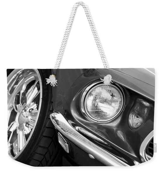 1969 Ford Mustang Mach 1 Front End Weekender Tote Bag