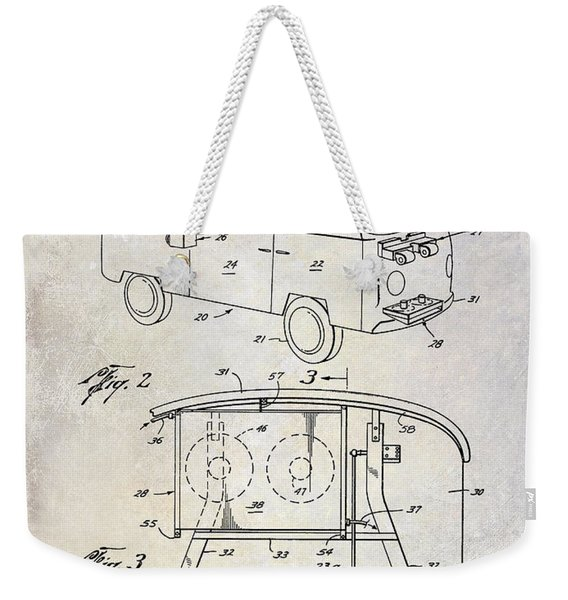 1970 Vw Patent Drawing Weekender Tote Bag