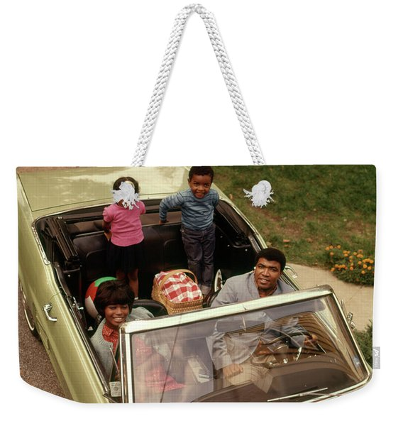 1970s African American Family Of Four Weekender Tote Bag