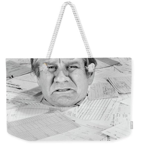 1970s Distressed Man Up To His Neck Weekender Tote Bag