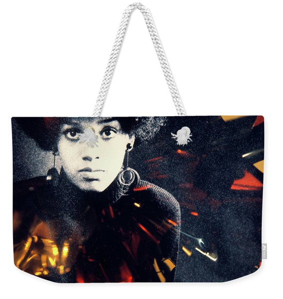 1970s Fashion Portrait Serious African Weekender Tote Bag