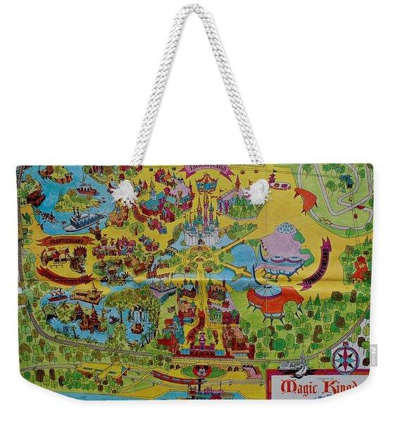 1971 Original Map Of The Magic Kingdom Weekender Tote Bag