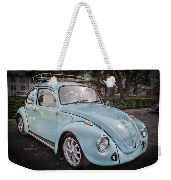 1974 Volkswagen Beetle Vw Bug Weekender Tote Bag