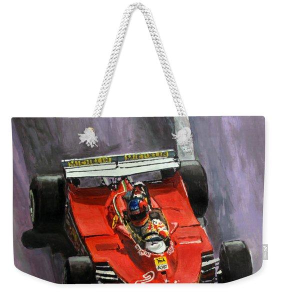 1980 Monaco Gp Gilles Villeneuve Ferrari 312 T5  Weekender Tote Bag