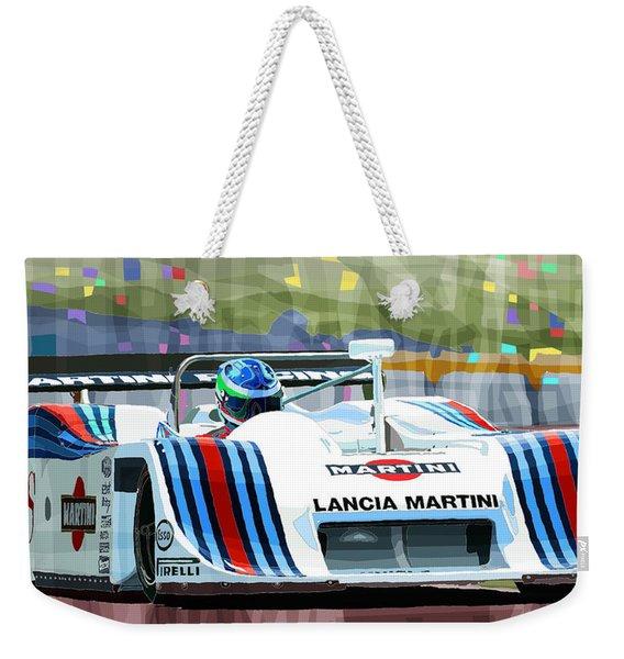 1982 Lancia Lc1 Martini Weekender Tote Bag