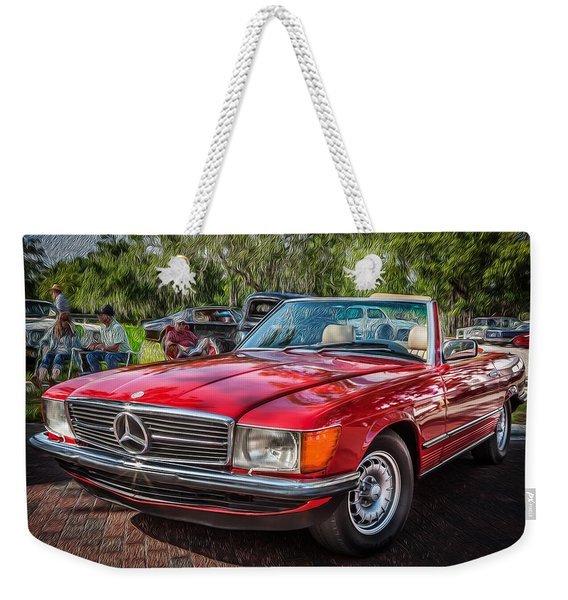 1984 Mercedes 500 Sl Painted  Weekender Tote Bag