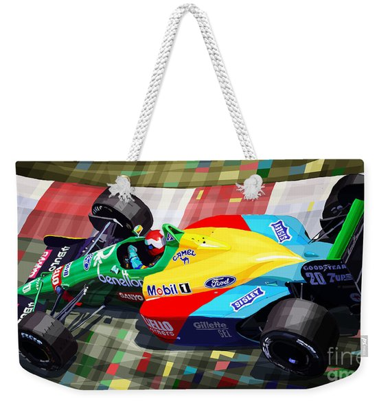 1989 Monaco Benettonb188 Ford Cosworth J Herbert Weekender Tote Bag