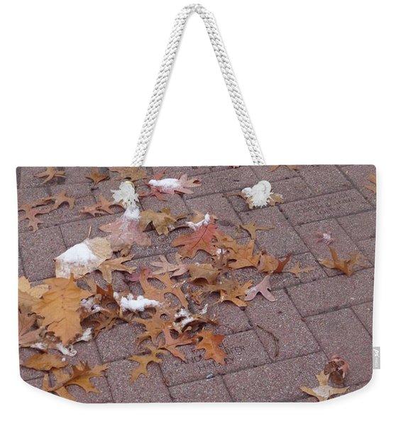 1st Snow Detail Weekender Tote Bag