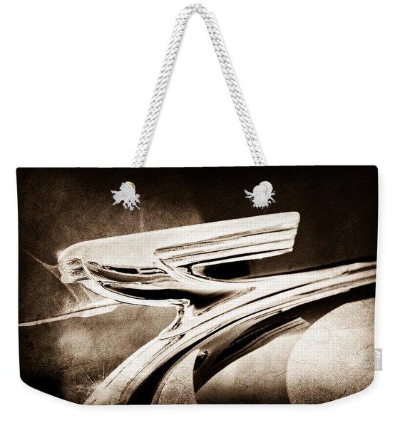 1937 Chevrolet 2 Door Sedan Hood Ornament Weekender Tote Bag