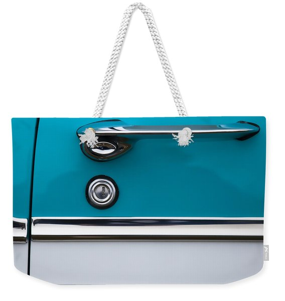 1956 Chevrolet Bel Air Weekender Tote Bag
