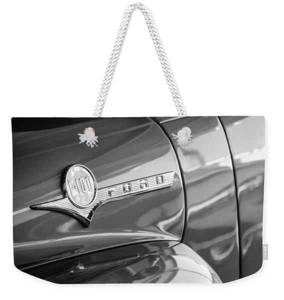 1956 Ford F-100 Truck Emblem Weekender Tote Bag