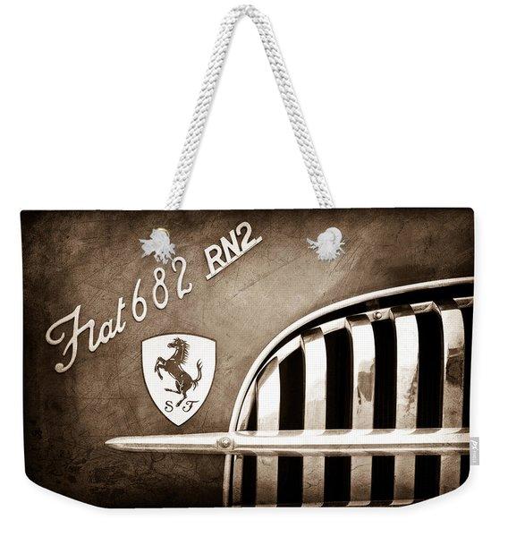 1959 Fiat Tipo 682 Rn-2 Transporter Emblem Weekender Tote Bag