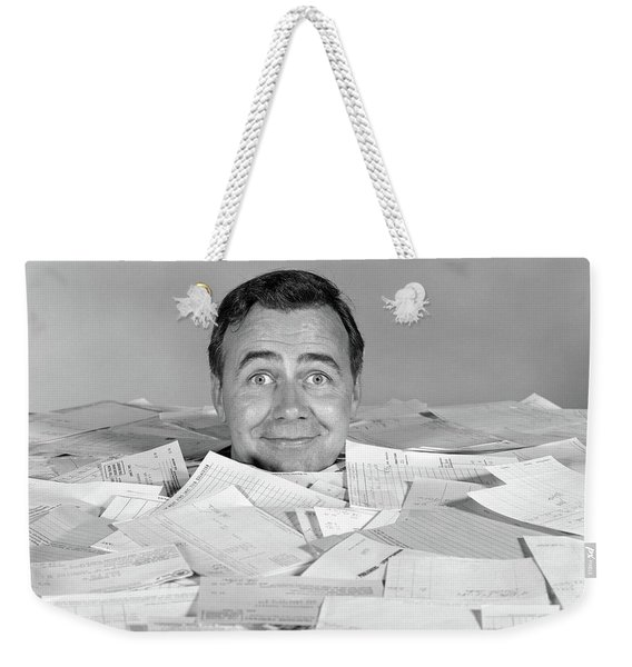 1960s Man Buried Up To His Neck Weekender Tote Bag
