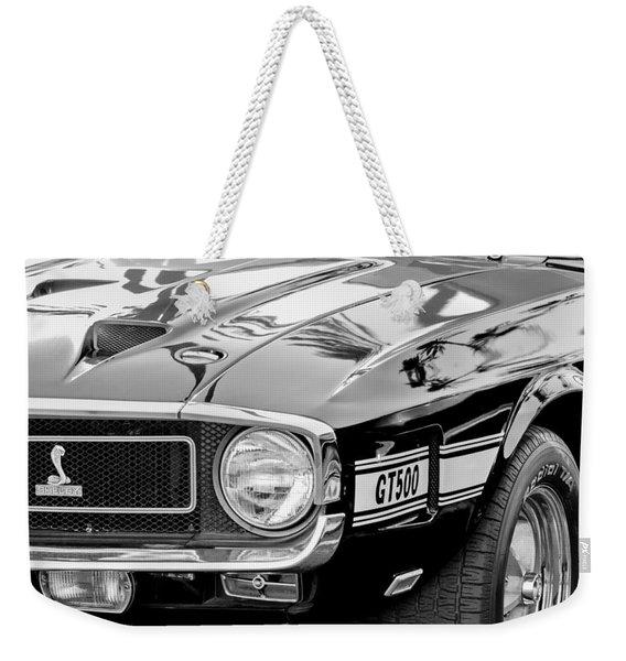 1969 Shelby Cobra Gt500 Front End - Grille Emblem Weekender Tote Bag