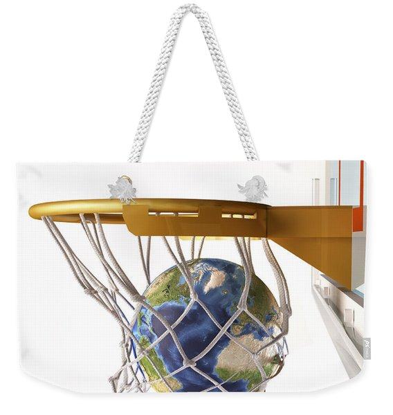3d Rendering Of Planet Earth Falling Weekender Tote Bag