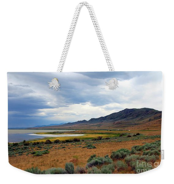 Weekender Tote Bag featuring the photograph Antelope Island by Jemmy Archer