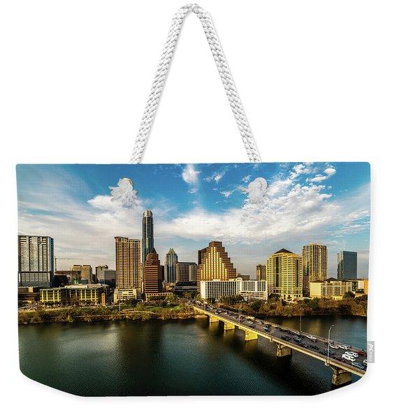 Austin, Texas - Austin Cityscape Weekender Tote Bag
