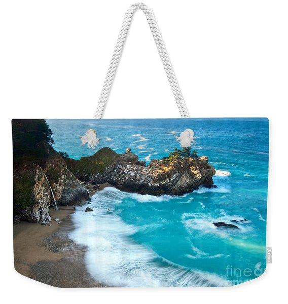 Beautiful Mcway Falls Along The Big Sur Coast. Weekender Tote Bag