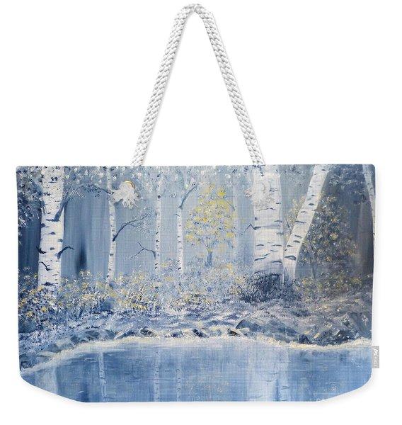Birch Reflections Weekender Tote Bag
