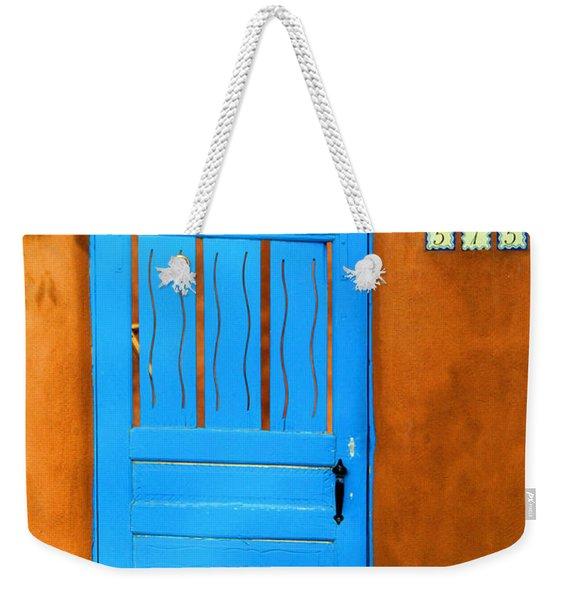 Blue Door In Santa Fe Weekender Tote Bag