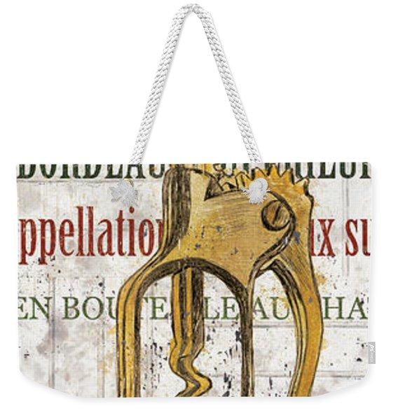 Bordeaux Blanc 2 Weekender Tote Bag