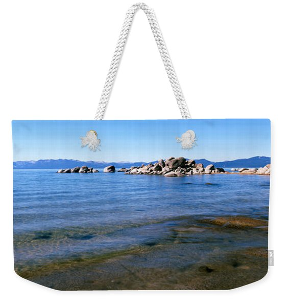 Boulders At The Coast, Lake Tahoe Weekender Tote Bag