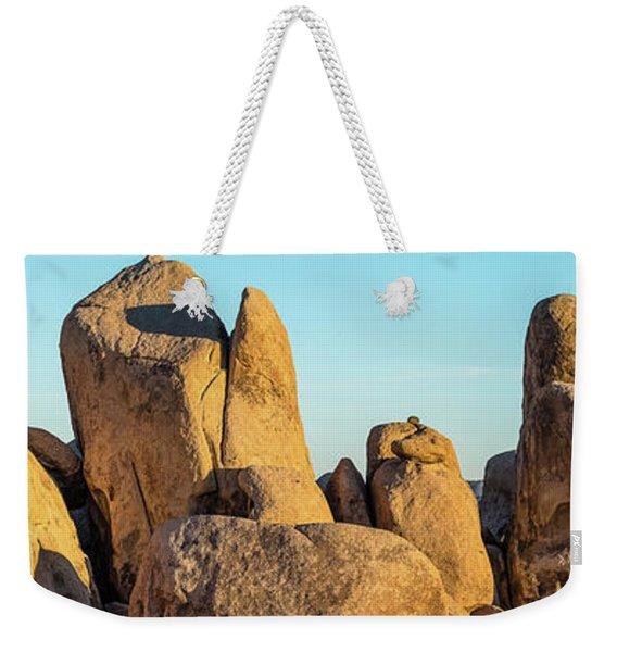 Boulders In A Desert, Joshua Tree Weekender Tote Bag