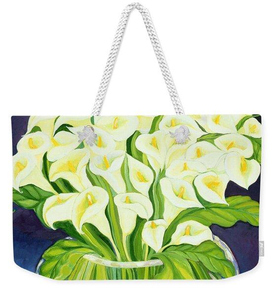 Calla Lilies Weekender Tote Bag