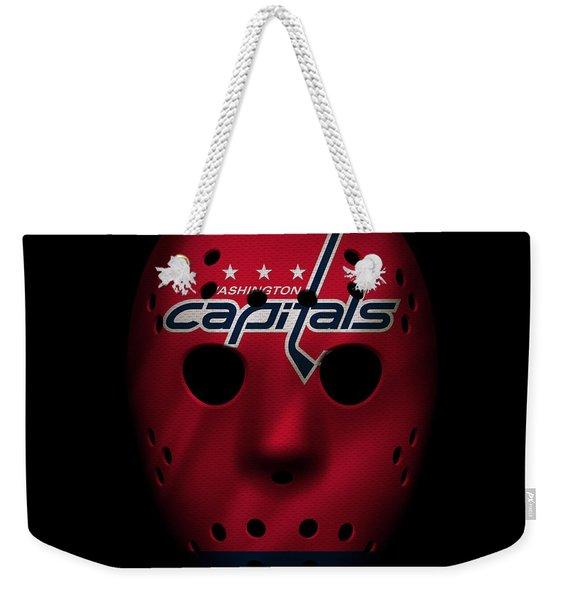 Capitals Jersey Mask Weekender Tote Bag