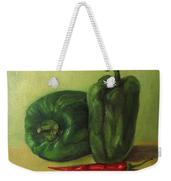 Capsicum And Red Chilli Weekender Tote Bag