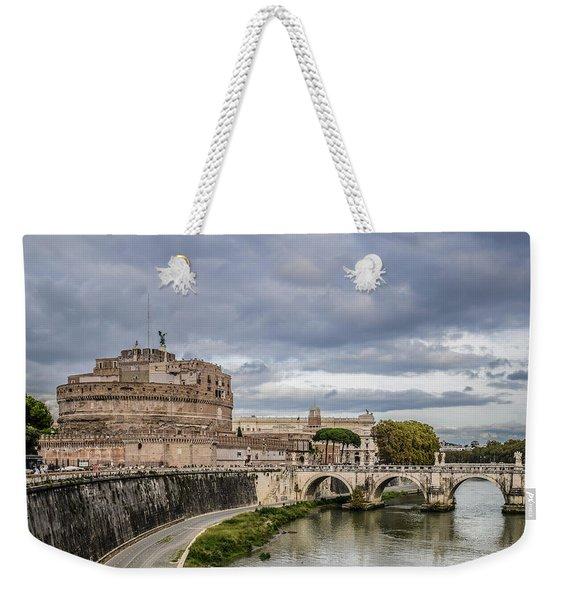 Castle St Angelo In Rome Italy Weekender Tote Bag