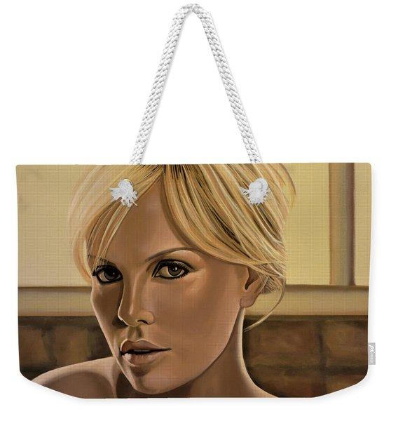 Charlize Theron Painting Weekender Tote Bag