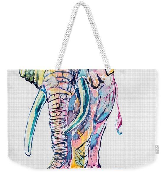 Colorful Elephant Weekender Tote Bag