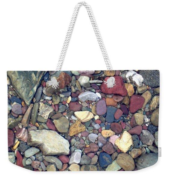 Colorful Lake Rocks Weekender Tote Bag
