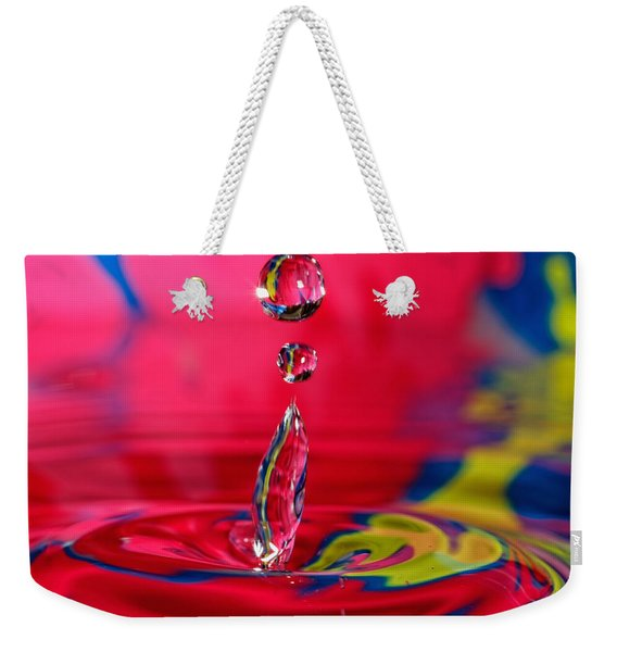 Colorful Water Drop Weekender Tote Bag