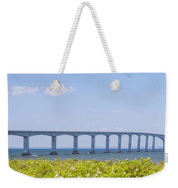 Confederation Bridge Panorama Weekender Tote Bag