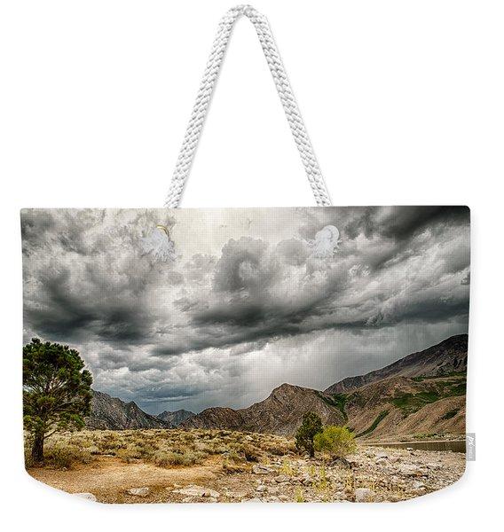 Dark Skies At Grant Lake Weekender Tote Bag