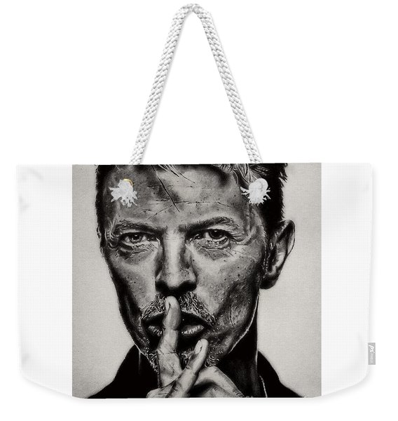 David Bowie - Pencil Abstract Weekender Tote Bag