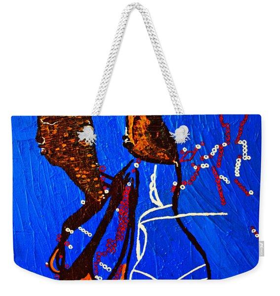 Dinka Embrace - South Sudan Weekender Tote Bag