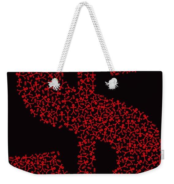 Dollar People Icon Weekender Tote Bag