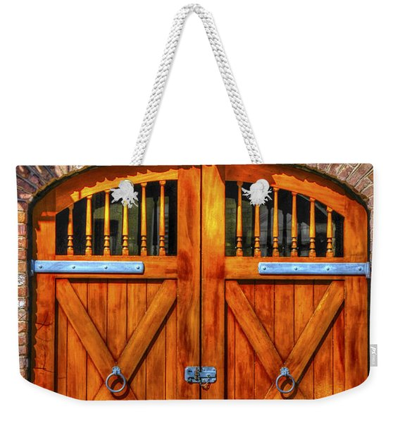 Doors Of Charleston Weekender Tote Bag