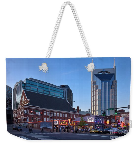 Weekender Tote Bag featuring the photograph Downtown Nashville by Brian Jannsen