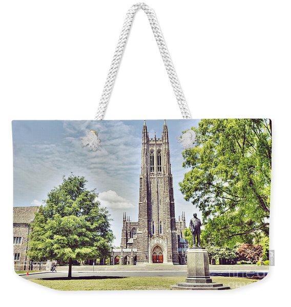 Duke Chapel In Spring Weekender Tote Bag